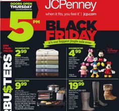 JCPenney $$ Black Friday Ad 2014!