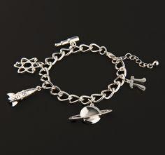 Physics charm bracelet