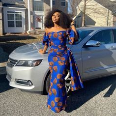 Here are 20 Pictures of Elegant and Simple Ankara Styles any OK tailor can sew. These are easy flowing designs that can be worn to both formal and in-formal events. African Maxi Dresses, African Fashion Ankara, Latest African Fashion Dresses, African Dresses For Women, African Print Fashion, African Attire, Ankara Gowns, Africa Fashion, African Prints