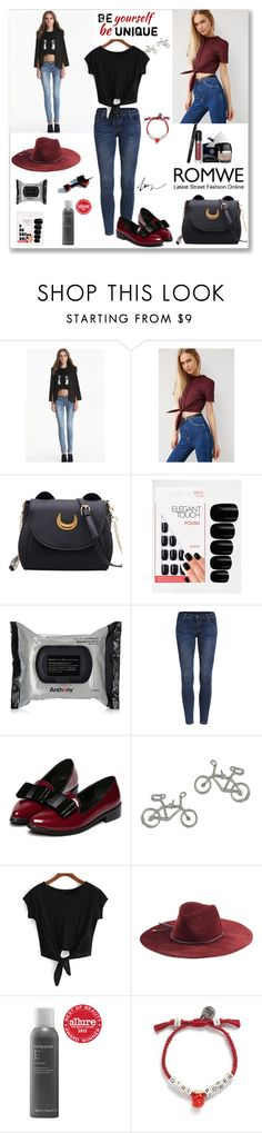 """""""Romwe T-shirt"""" by ludmyla-stoyan ❤ liked on Polyvore featuring Alice Ritter, Elegant Touch, Emilio Pucci, Living Proof, Venessa Arizaga, Marc Jacobs, black, romwe, top and burgundy"""