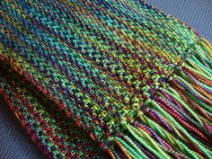 Ravelry: Project Gallery for Koigu Linen Stitch Scarf pattern by Churchmouse Yarns and Teas