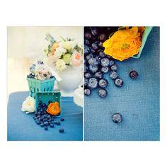 Vintage Blueberry Wedding Ideas
