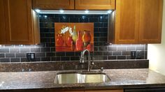 The Tuscan Pottery Mural makes a great focal point and ties it all together.