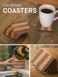 Whether you're making them for yourself or giving them as a gift, wooden coasters are always a crowd pleaser. In this intermediate-level project, w… | Pinterest