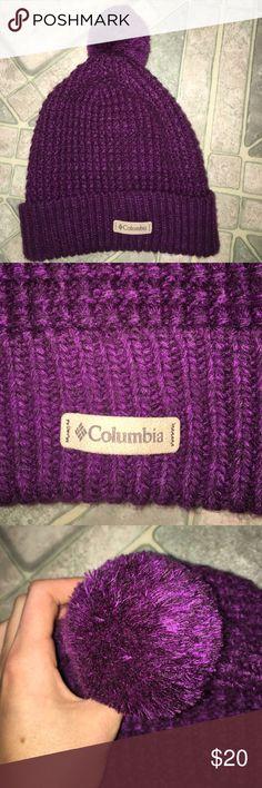 Women's Purple Columbia hat! Women's one size fits all Columbia hat! WORN ONCE Columbia Accessories Hats