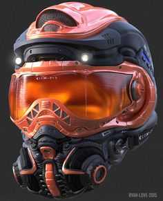 ArtStation - Helmet Concept #3, Ryan Love