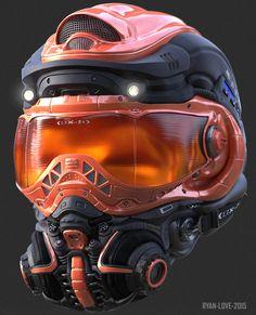 ArtStation - Helmet Concept #3, Ryan Love