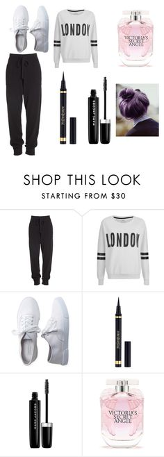 """""""Lazy day"""" by kiana-champ ❤ liked on Polyvore featuring Donna Karan, ONLY, Aéropostale, Yves Saint Laurent, Marc Jacobs and Victoria's Secret"""