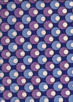Blue, Lilac, Purple & White Geometric Circle Pattern