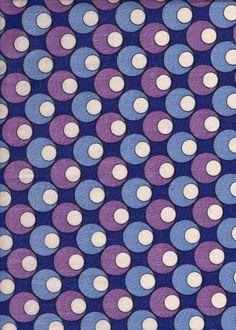 Blue, Lilac, Purple & White Geometric Circle Pattern