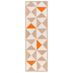 Surya Molino Orange Hand Woven Rug @Zinc_Door