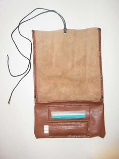 Handmade leather tobacco pouch <3