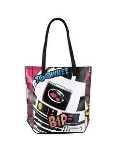 Star Wars R2-D2 Pop Art Faux Leather Tote Bag,