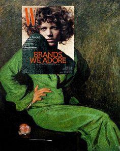 L'artiste philippin Eisen Bernard Bernardo s'amuse avec l'art classique et les magazines contemporains en plaçant des couvertures avec leur photo sur des tableaux de manière à ce qu'ils s'assemblent parfaitement.