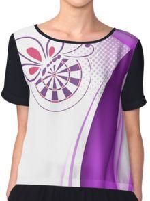 Bed And Butterfly Darts Shirt Women s Chiffon Top Dart Shirts 07efddb0a