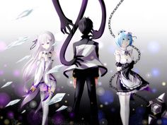 This HD wallpaper is about Anime, Re:ZERO -Starting Life in Another World-, Emilia (Re:ZERO), Original wallpaper dimensions is file size is Subaru, Re Zero Wallpaper, Soft Wallpaper, Wallpaper Wallpapers, Re Zero Rem, Anime Kunst, Anime Titles, Anime Artwork, Another World