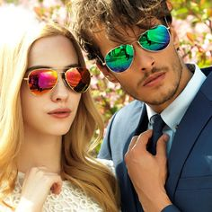Men and women alike, both can utilize #sunglasses to spruce up or add some flavor to their outfits.