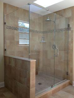 75 best Frameless Shower Doors images on Pinterest | Framed shower Bathroom Ideas Frameless Shower Design on corner shower design ideas, shower door design ideas, shower tub design ideas, neo angle shower design ideas,