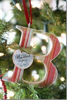 Handmade Ornament; make one for each kid