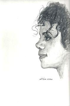 Original Drawing Michael Jackson Profile