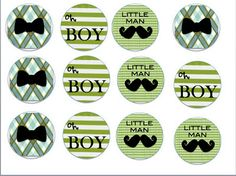 Printables for mustache baby shower