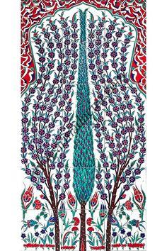 60x120 iznik Selvi Cini Desenli El Dekoru 633 Kütahya ve iznik çinileri el yapımı çini karo türk çini sanatı desenleri osmanlı motifleri türk hamamı çini pano banyo mutfak çiniler seramik otel ev cami metro dekorasyon mosque masjid hand made interior ceramic tiles decoration turkısh bath bathroom fiyatları satıcıları Ceramic Tile Art, Ceramic Design, Mosaic Art, Mosaic Tiles, Turkish Tiles, Turkish Art, Turkish Pattern, Indian Flowers, Dream Decor