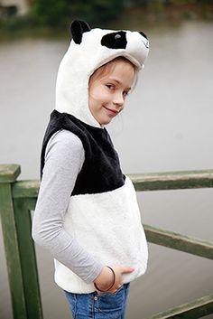 Panda tasarımlı pelüş yelek / Panda design vest