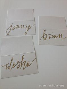Wedding Placecards Modern Calligraphy Wedding Calligraphy