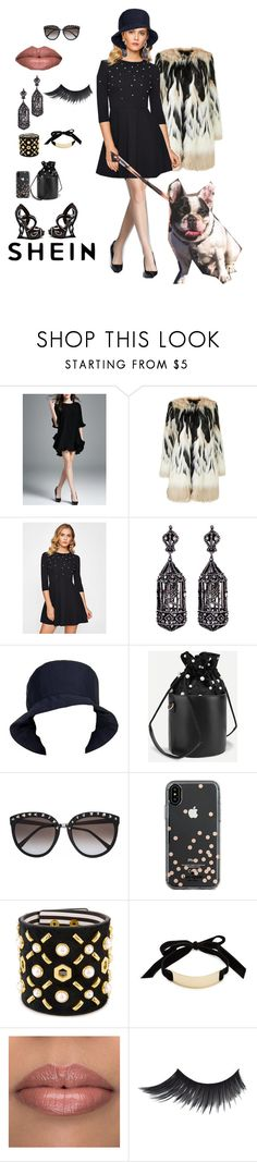 """""""What a Beautiful Day    Shein: Black pearl studded Dress"""" by bluehatter ❤ liked on Polyvore featuring Amrapali, Prada, Kate Spade, Henri Bendel and Trina Turk"""