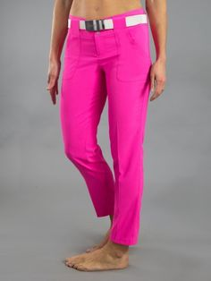 "Check out what #lorisgolfshoppe has for your days on and off the golf course: Napa (Fluorescent Pink) JoFit Ladies 28"" Inseam Belted Golf Cropped Pants"