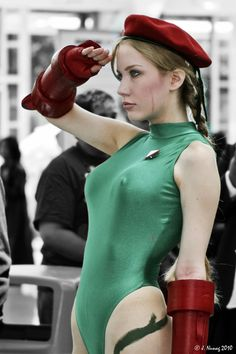Cammy is excited for her next Street Fighter match!