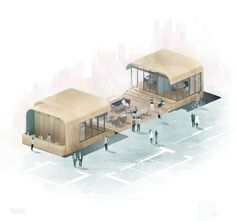Bean Buro's computer rendering of the Hong Kong facility shows how open lounges connect enclosed offices and meeting rooms. Imagecourtesy of Bean Buro.   In the ...