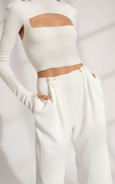 Dion Lee Pierced Pant on Garmentory Space Fashion, Fashion Week, Runway Fashion, High Fashion, Fashion Outfits, Fashion Trends, Fashion Fashion, Fashion Poses, Fashion Fabric