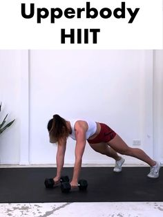 Get a fit and toned upper body and burn some serious calories with this fat blasting Upperbody HIIT routine. Get a fit and toned upper body and burn some serious calories with this fat blasting Upperbody HIIT routine. Hiit Workout Routine, Hiit Workouts At Gym, Upper Body Hiit Workouts, Hiit Workouts With Weights, Hiit Workout Videos, Hiit Workouts For Beginners, Hitt Workout, Workout Plans, Workout Body