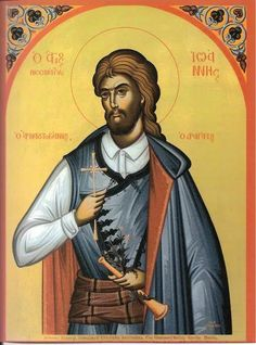 """John the Dragatis (Feast Day - May John was an Albanian soldier, and was nicknamed """"Arnaoutoyiannis"""". The Turk, Neo, Catholic Saints, Islam, Three Days, Icons, Google, Symbols, Ikon"""