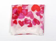 my silk hearts scarf on Brika