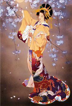 Photo reference inspiration for my geisha tattoo Haruyo Morita Japanese Artwork, Japanese Painting, Japanese Prints, Asian Artwork, Art Geisha, Geisha Kunst, Art And Illustration, Art Asiatique, Art Japonais