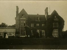 Hospital at Uplands, Winchester 19 Romsey Road, Winchester (later re-numbered to 45) was used as a Section Hospital from 1915.  The postcard was written by one of the nurses seen by the conservatory; she has marked her bedroom window top right, and identified Sister Reed at the window top left. WINCM:PWCM 39057
