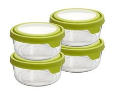 Amazon.com: Anchor Hocking 4 Containers (8-Pieces including Lids) 7-Cup Round TrueSeal Food Storage Set: Kitchen & Dining