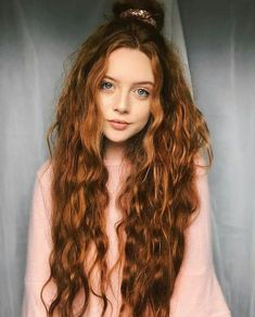 Burgundy Brown - 40 Red Hair Color Ideas – Bright and Light Red, Amber Waves, Ginger Hair Color - The Trending Hairstyle Curly Hair Styles, Long Curly Hair, Curly Ginger Hair, Ginger Hair Girl, Long Red Hair, Ginger Girls, Brown Hair, Magenta Hair Colors, Red Hair Color