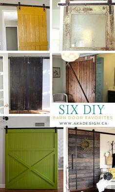 I really want to do this in my family room: 6 DIY Barn Door Favorites… Diy Barn Door, Barn Doors, Sliding Doors, Entry Doors, Carriage Doors, Wood Doors, Home Reno, Basement Remodeling, Home Projects