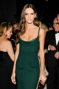 Izabel Goulart - Love this green dress. Stunning.