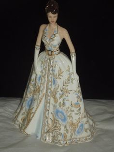 "RARE Coalport Large 10"" Lady Figurine for 2007 Katherine 