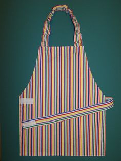 Child's apron  bright stripes  READY TO SHIP by EverSewSweet, $12.00