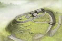Reconstruction of an early hillfort from the Early Middle Ages in Holz-Erdburg Salbüel by Joe Rohrer