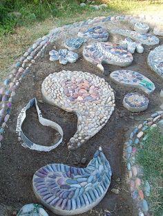 Pebble Mosaic walkway by proteamundi