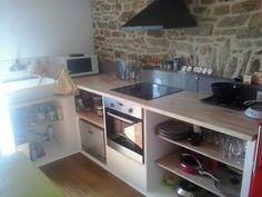 Mon projet de cuisine en béton cellulaire | Kitchens, Concrete ...