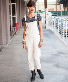 white dungarees - Google Search