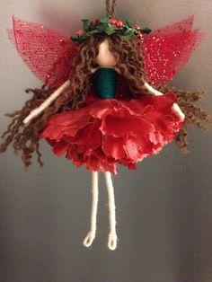 Little merry fairy   fairy, fairy ornament, fairy doll, wire fairy Wire doll  Www.facebook.com/lulatuesdays
