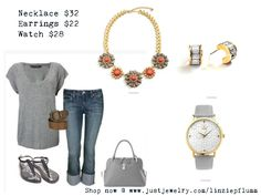 With a pop of color you can dress up any outfit! Love this necklace SHOP NOW @ www.justjewelry.com/linziepflumm